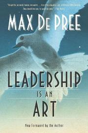 Leadership Is an Art by Max DePree