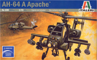 Italeri AH64 Apache Helicopter 1:72 Model Kit image
