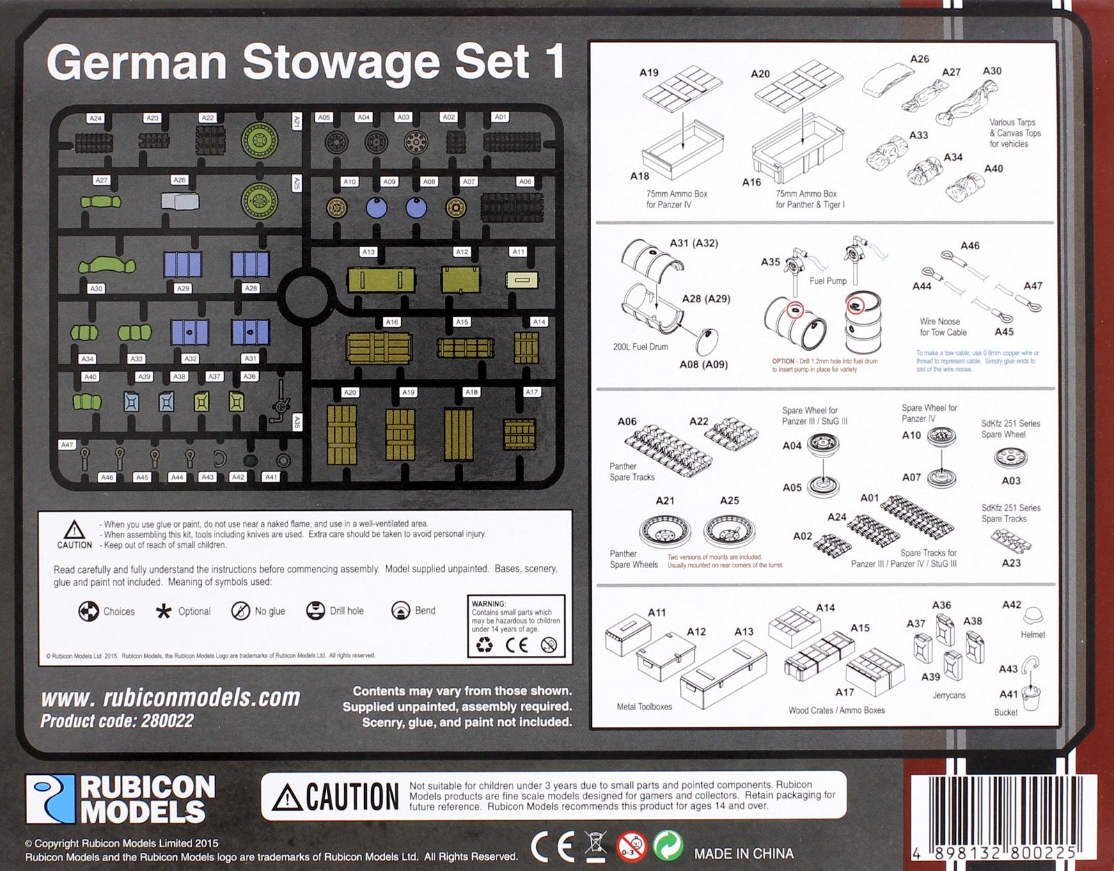 Rubicon 1/56 German Stowage Set image