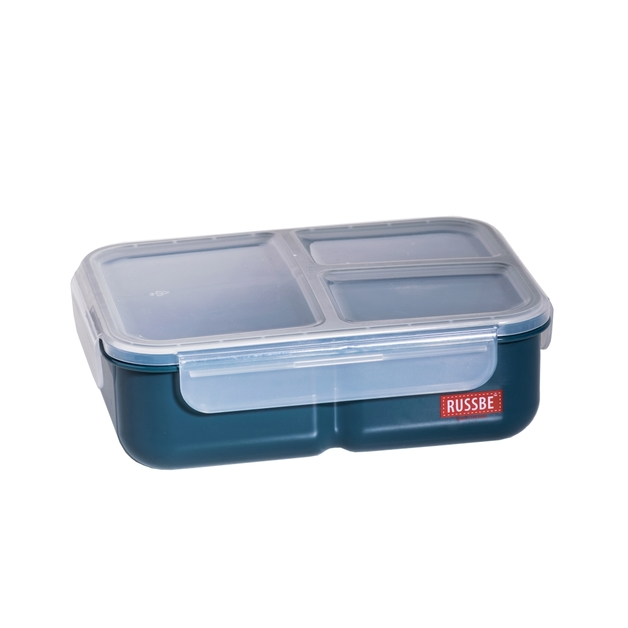 Russbe Inner Seal 3 Compartment Lunch Bento 1.6 Ltr - Navy