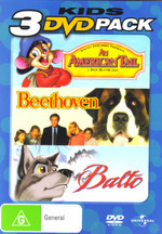 American Tail / Beethoven / Balto - 3 DVD Pack (3 Disc Set) on DVD