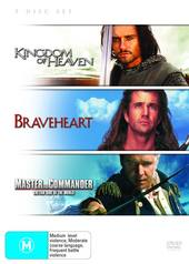Kingdom Of Heaven / Braveheart / Master And Commander (3 Disc Set) on DVD