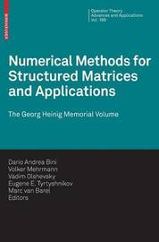 Numerical Methods for Structured Matrices and Applications image