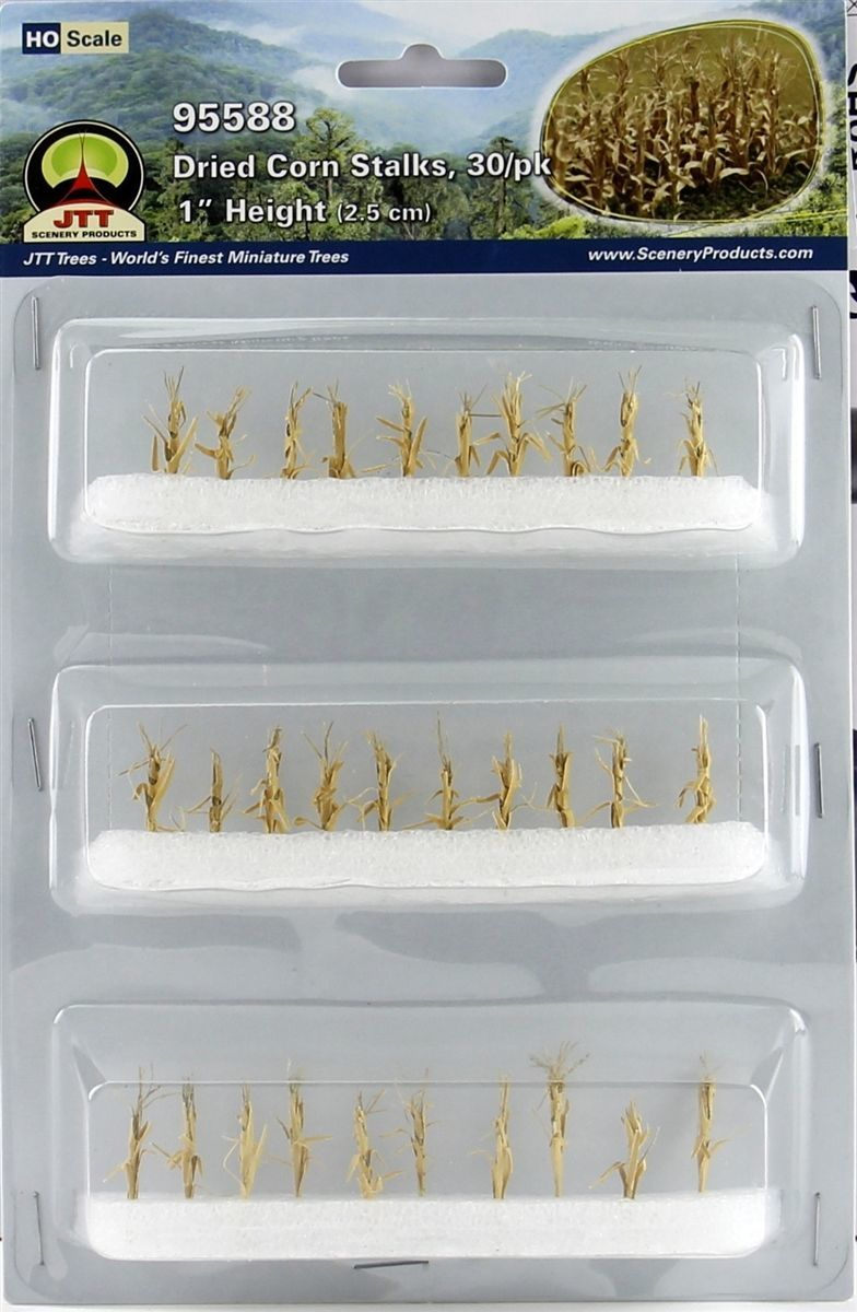 JTT: HO Scale Dried Corn Stalks - 30 Pack image