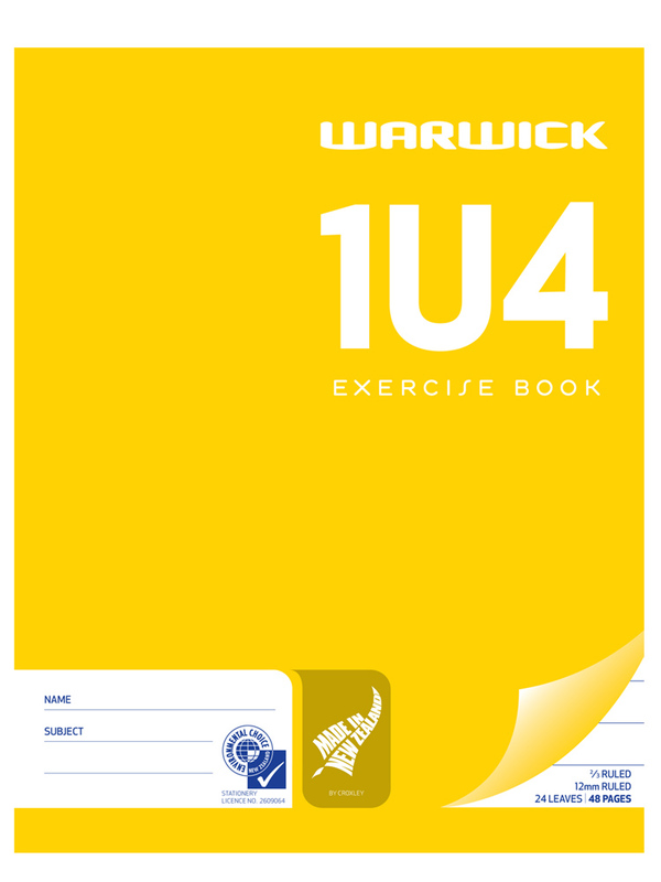Warwick 1U4 24lf Exercise Book