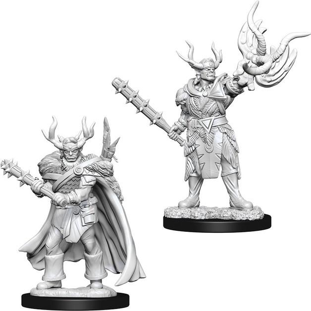 Pathfinder Deep Cuts: Unpainted Miniatures - Male Half-Orc Druid
