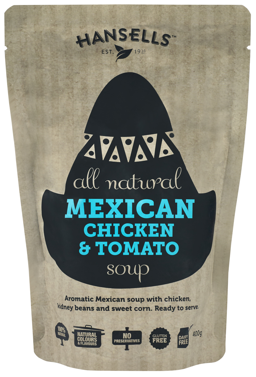 Hansells: All Natural Soup - Mexican Chicken & Tomato (6 x 400g) image