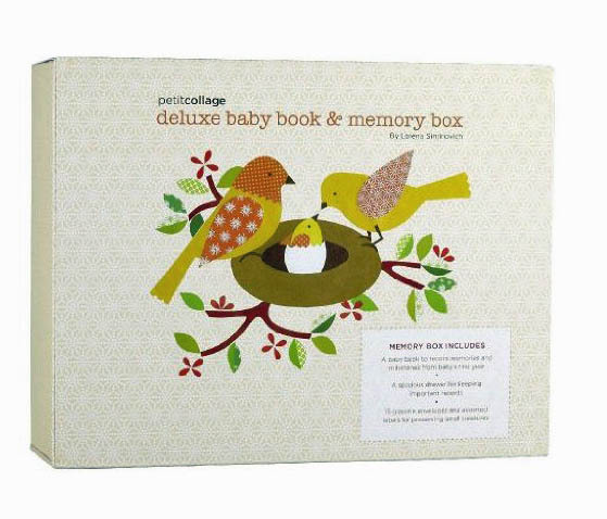 Petit Collage Deluxe Baby Book and Memory Box by Lorena Siminovich image