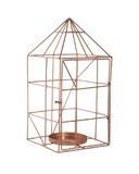 General Eclectic Wire House Candle Holder (Copper)