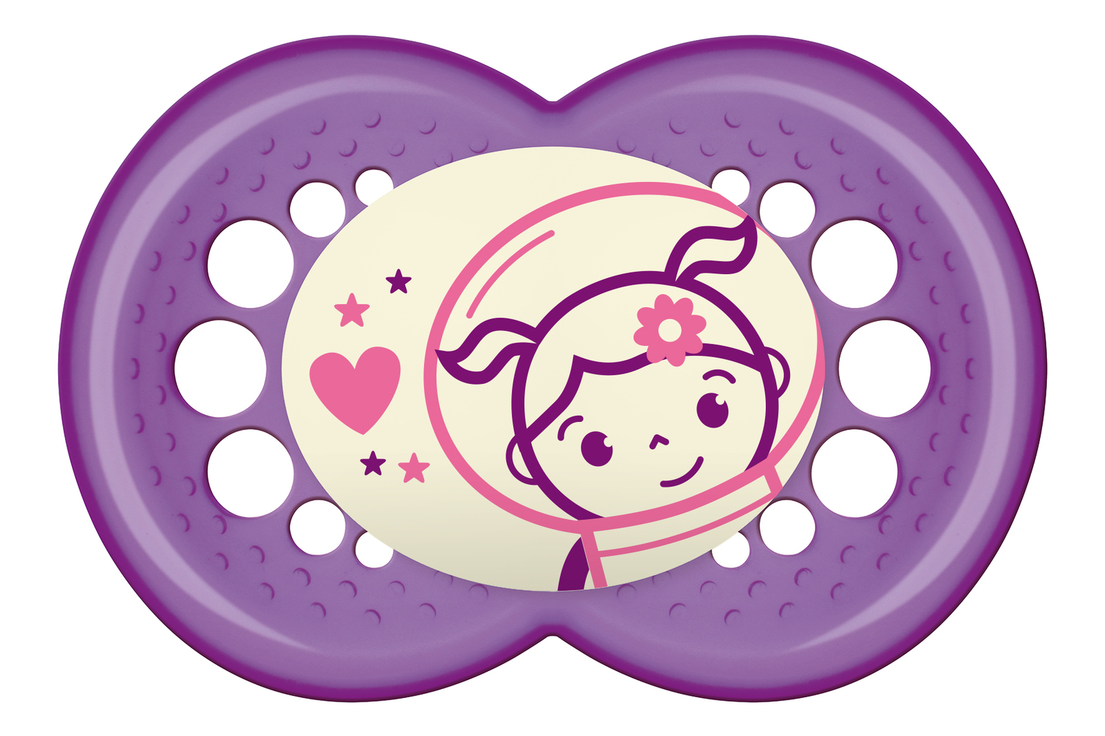 MAM Night Silicone Soother 4-24 Months - 2 Pack (Pink) image