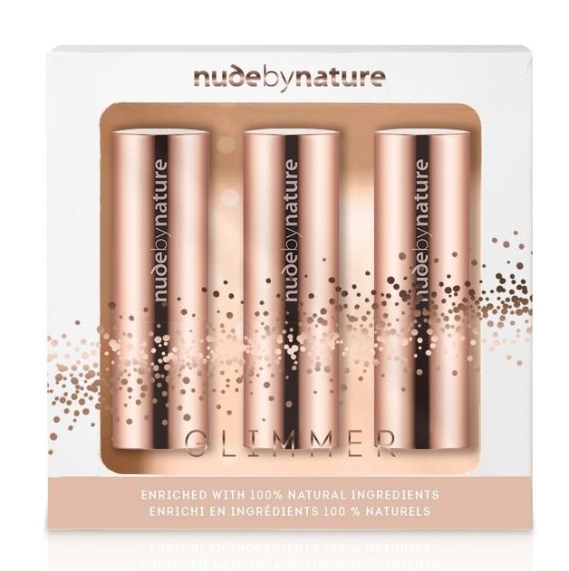 Nude by Nature: Glimmer Moisture Shine Lipstick Trio