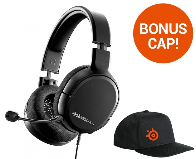 SteelSeries Arctis 1 Wireless Gaming Headset (Black) for PC