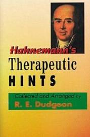 Hahnemann's Therapeutic Hints by R.E. Dudgeon image