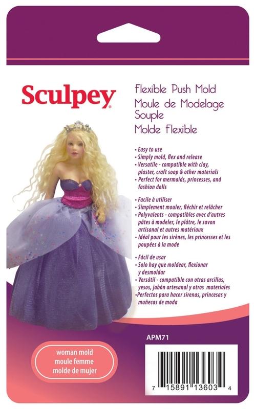 Sculpey Doll Molds - Woman Doll