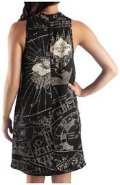 Harry Potter Marauders Map Sleeveless Choker V Neck Dress: XL image