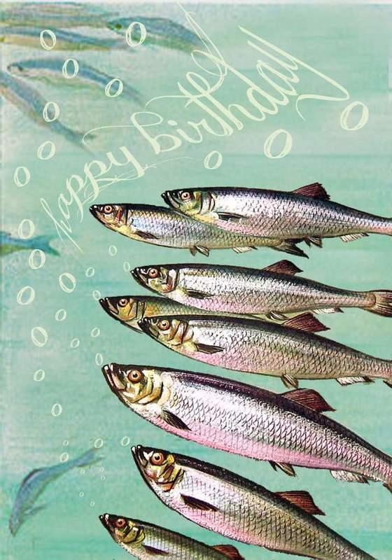 Madam Treacle: Fish Chorus Happy Birthday Card