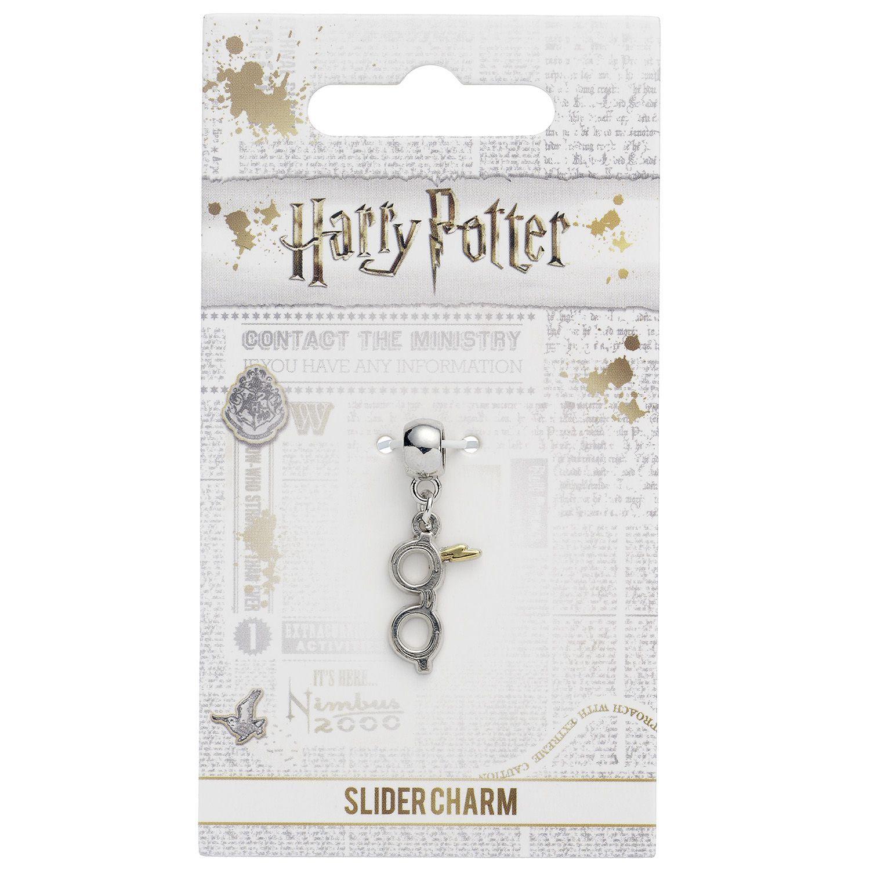 The Carat Shop: Harry Potter Silver Plated Lightning Bolt with Glasses Slider Charm image