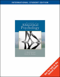 Essentials of Abnormal Psychology by Vincent Mark Durand image