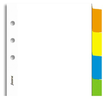Filofax - Personal Blank Index with Multi-Coloured Labels (Six Tabs) - White image