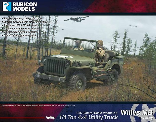Rubicon 1/56 Willys Jeep MB ¼ ton 4x4 Truck - US