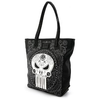 Loungefly Marvel Punisher Sugar Skull Tote image