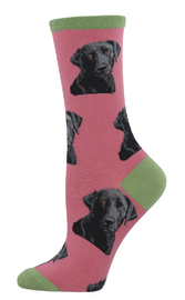 Women's Lab-or Of Love Crew Socks - Dusty Pink