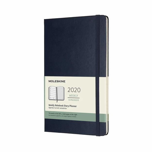 Moleskine: 2020 Diary Large Hard Cover 12 Month Weekly - Sapphire Blue