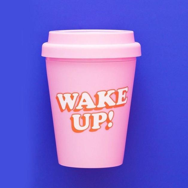 Yes Studio: Small Travel Mug - Wake Up