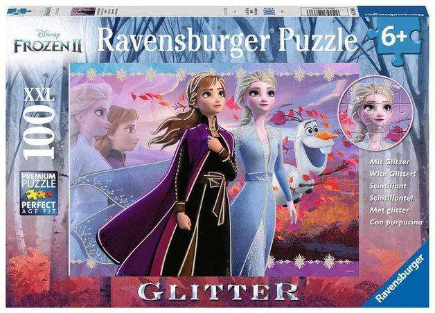 Ravensburger: Disney 100-Piece Puzzle - Frozen 2: Strong Sisters (Glitter)