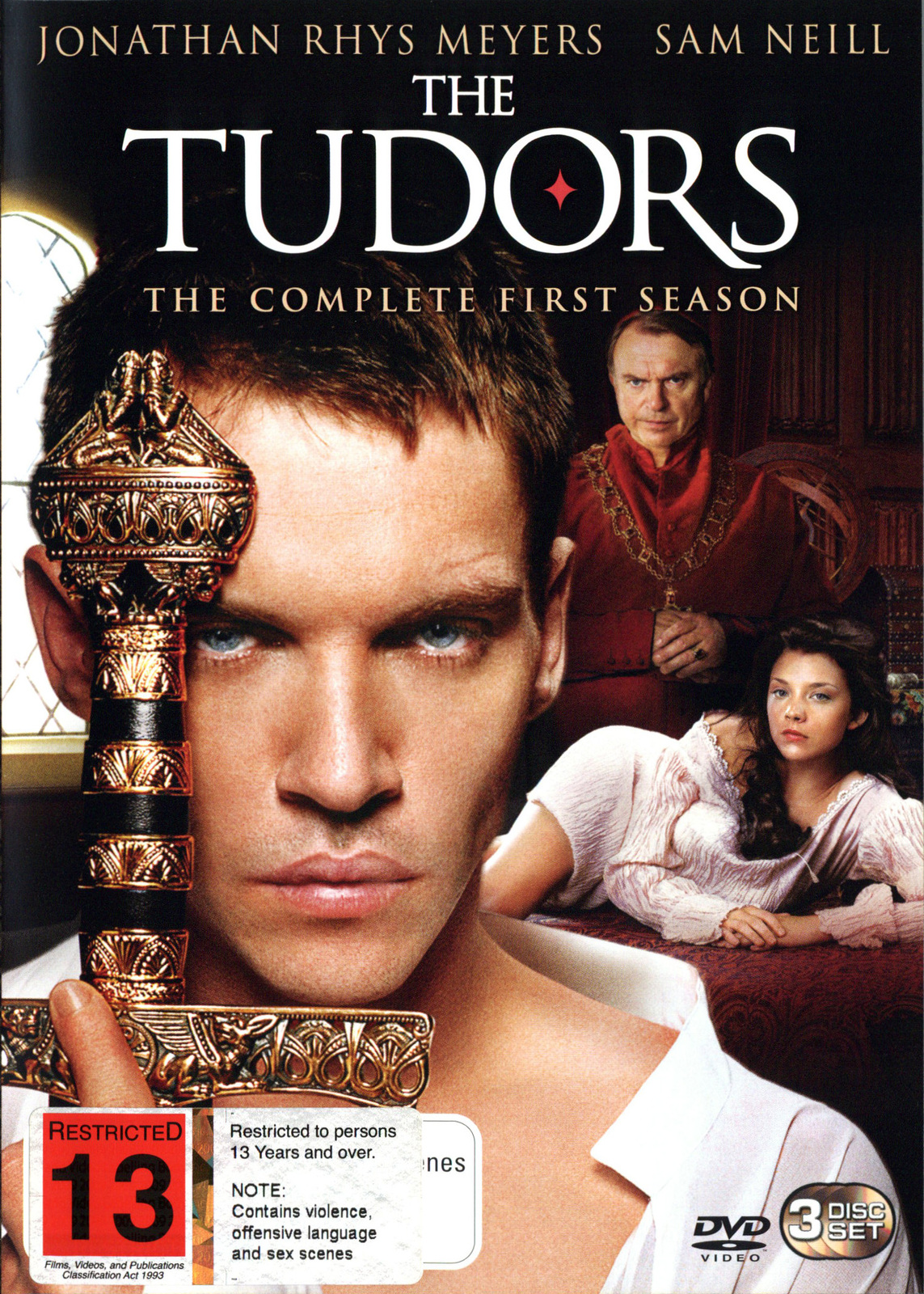 The Tudors: The Complete First Season (3 Disc Set) on DVD image