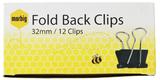 Marbig Fold Back Clip - 19mm (Box of 12)