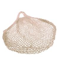 Cotton String Bag Short Handle - Natural