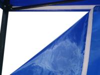 Heavy Duty Steel Gazebo 3x3m with 3 Sided Wall - Blue