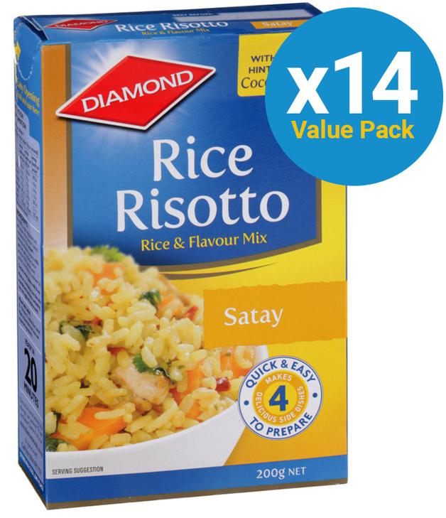Diamond: Rice Risotto Satay 200g (14 Box Value Pack)