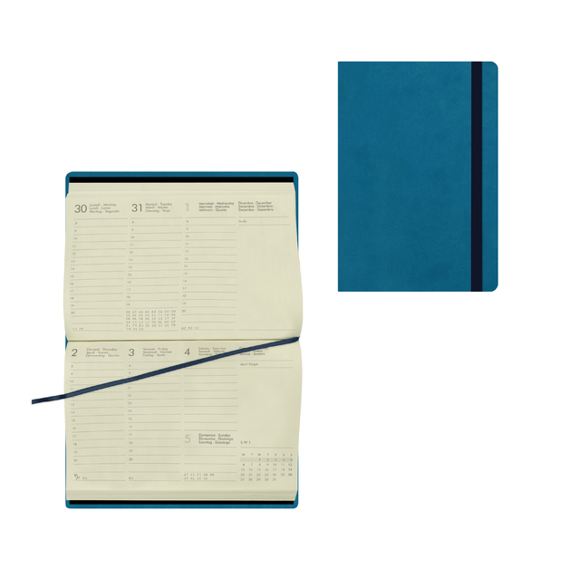 Legami: Small Weekly 12 Month 2021 Diary - Petrol Blue (9.5 x 13.5cm)