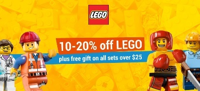 10-20% off all LEGO sets!