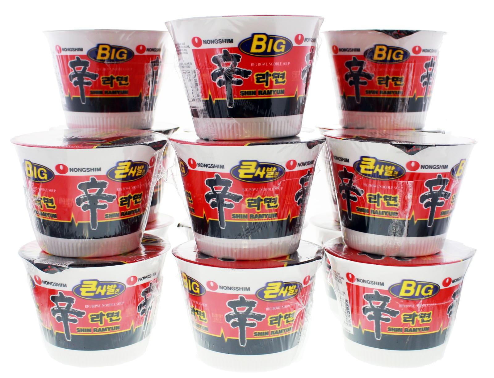 Nong Shim Big Noodle Cup Hot & Spicy 114g (16 Pack) image