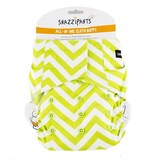 Snazzipants All In One Reusable Nappy - Lime Chevron
