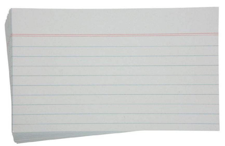 Esselte Lined System Cards - White (100 Pack) image