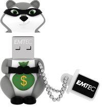 8GB Emtec USB 2.0 Flashdrive - Raccoon