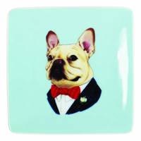 Berkley Bestiary: Square Trinket Tray - Frenchie Portrait