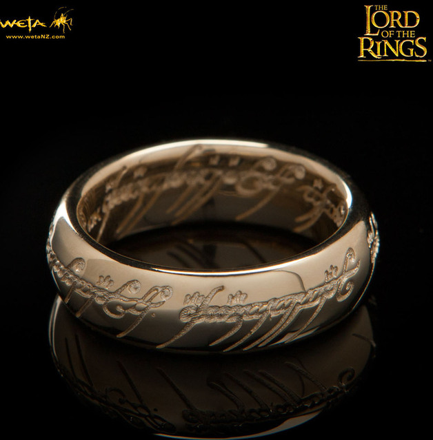 Lord of the Rings: The One Ring by Weta - Size R½, Solid Gold