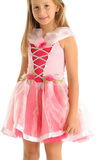 Fairy Girls - Charm Princess Dress in Pink (Medium, age 4-6)