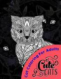 Cute Cats Midnight Edition by Cat Coloring Books