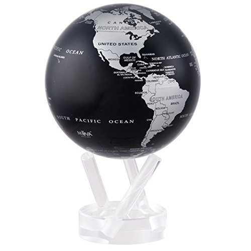 MOVA Self Rotating Globe Silver/Black - 11.5cm