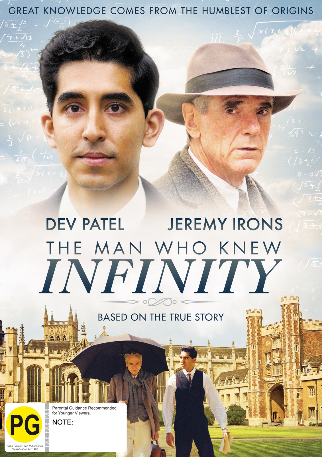 The Man Who Knew Infinity on DVD image