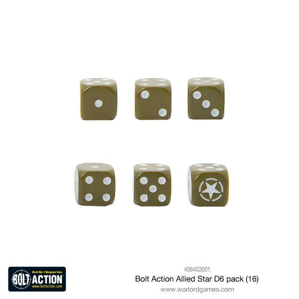 Bolt Action Allied Star D6 pack (16) image