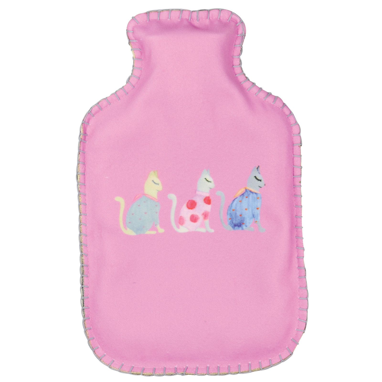 Wicked Sista: Hot Water Bottle & Cover - Cats by Kat image