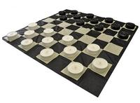 Giant 22cm Checkers Pieces With Large 280cm Nylon Fabric Checkers Board