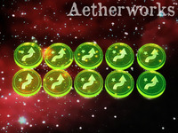 Aetherworks Evade Tokens - Fluorescent Green (10 Pack)